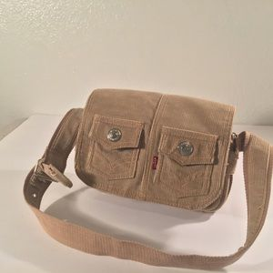 Levi's red tab tan corduroy snap pocket purse